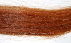 Волосы натуральные в срезе, тон 7. 3, медный