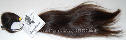 Волосы натуральные в срезе, тон 4, светло-коричневый