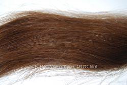 Волосы натуральные, тон 5. 3, тёмно-русый золотистый
