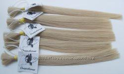 Волосы натуральные в срезе, тон 10. 4, блондин жемчужный