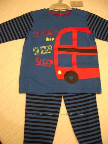 Пижама Matalan Англия 12-18 мес 80-86 см Новые с биркой