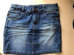 Красивая джинсовая юбка La Redoute