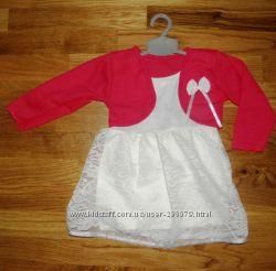 Нарядное платье  болеро девочке на годик Турция