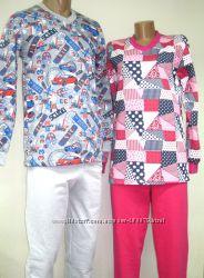 Теплая пижама к холодам для девушек и женщин