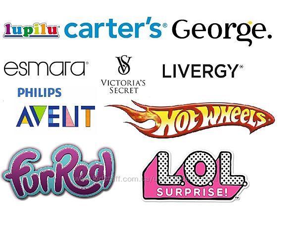 Carters, George, Amazon, Walmart, Lidl, VS, iHerb, Mango без комиссии