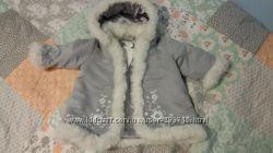 Демісезонна курточка на дівчинку пальтішко  НМ р. 92