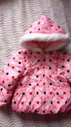Зимняя куртка в горошек. Crazy 8. 4т-5т