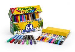Смываемые маркеры Crayola широкая линия 64 шт
