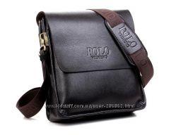 Мужская стильная кожаная сумка через плечо VIDENG POLO. Отличный подарок.