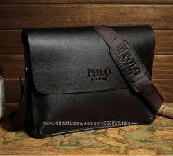 Стильная мужская кожаная сумка Polo под формат А4 - идеальный подарок.