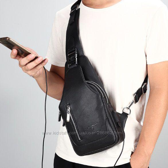 Сумка-рюкзак на одно плечо KANGAROO. Сумка-messenger, сумка Cross Body.