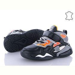 Демисезонные кожаные кроссовки на мальчика Kimboo Солнце 26-31р.