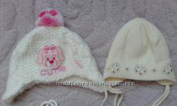 Польські шапочки для дівчинки 9-18міс. 2шт.