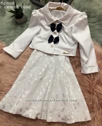 Нарядный комплект платье  болеро, р. 122, 128, 134