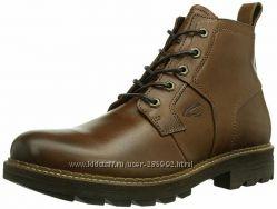 Новые  пролет мужские кожаные ботинки с  цигейкой  camel active