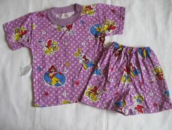 Новые комплекты футболка с шортами для девочек 24-28 размер