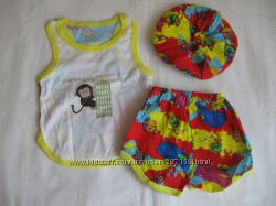 Новые летние комплекты-тройки для малышей 26 размер