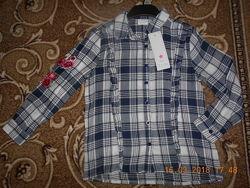 Рубашки девочкам Теско 5-7 лет