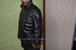 Дублёнка  курточка зимняя натуральная качество кожа.
