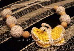 Слингобусы, вязаные погремушки