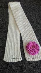 Веселые, радужные шарфики и шапки для деток вяжу на заказ
