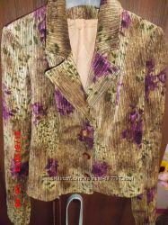 Вельветовый пиджак 46-48 сост нового