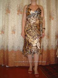 Шелковое платье Cache