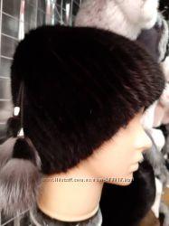 шапка меховая на вязаной основе в ассортименте 1250 грн женские