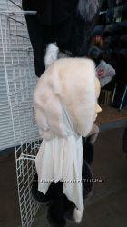 Платок-шапка из меха норки. Цвета в наличии