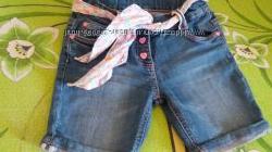 Красивые джинсовые шорты C&A Германия, 5-6 лет