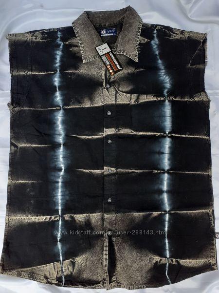 Джинсовая рубашка р. XL
