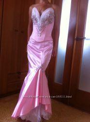 Вечернее, выпускное платье-рыбка Юнона юбка и корсет