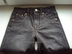 Джинсы качественные 128-134 рост, прочный джинс, идеальное состояние
