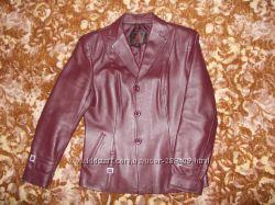Классический кожаный пиджак, р. 48-50