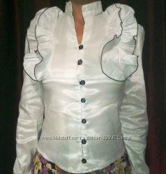 Блузка школьная нарядная р-р S