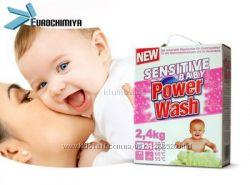 Power Wash Baby Чувствительный Ст. порошок, Картонная уп. 2, 4 кг