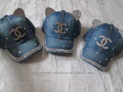 Джинсовая кепка для девочек р 46-48
