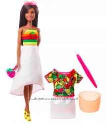 Барби barbie crayola  Фруктовый Сюрприз платье меняет раскраску