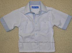 Рубашка детская, шведка для мальчиков на кнопках, хлопок. рост 98. 104. 116