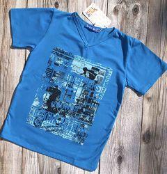 Футболка детская, летние футболки для мальчиков. 128-140