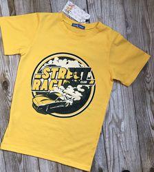 Футболка детская, летние футболки для мальчиков, рост 98-140