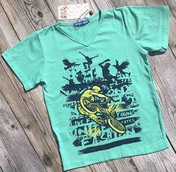 Футболка  детская, летние подростковые футболки для мальчиков. рост 128-158