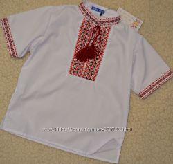 Вышиванка, рубашка детская из хлопка. рост 122-146
