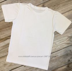 Детские белые футболки. рост 104-158