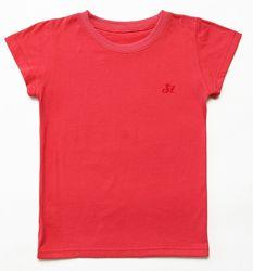Детские однотонные футболки, базовые спортивные футболки. рост 122-152