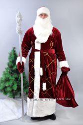 Новогодний костюм Деда Мороза  бордовый
