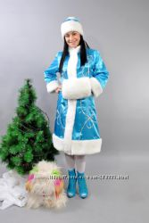 Новогодний костюм снегурочки бирюзовый
