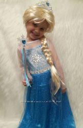 Белый парик с косой волосы Эльзы Холодное сердце Frozen
