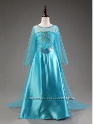 Платье Эльзы на рост 98-134, 3-8 лет