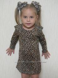 В наличии леопардовое платье для гламурных малышек